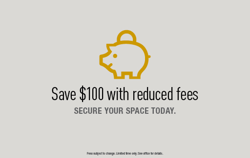 Save $100 with reduced fees