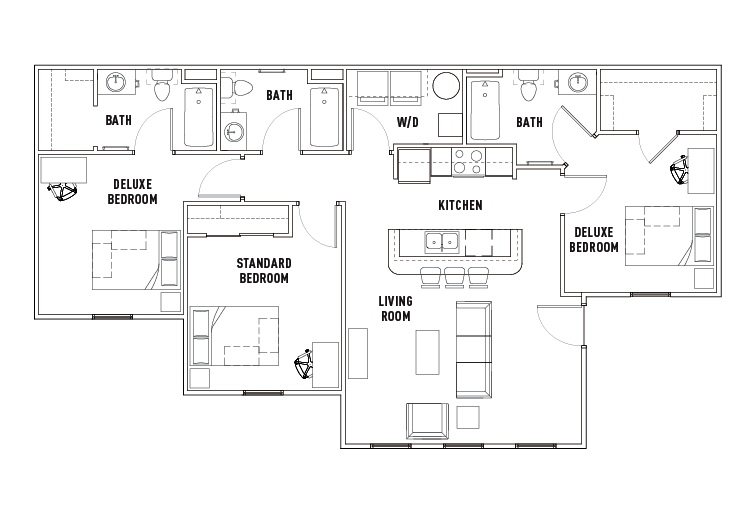 3 Bed - 3 Bath Dlx - The Province Rochester - Student Housing ...
