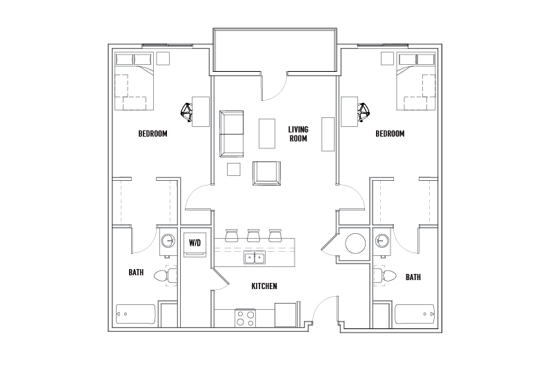 Court 2 Bed - 2 Bath