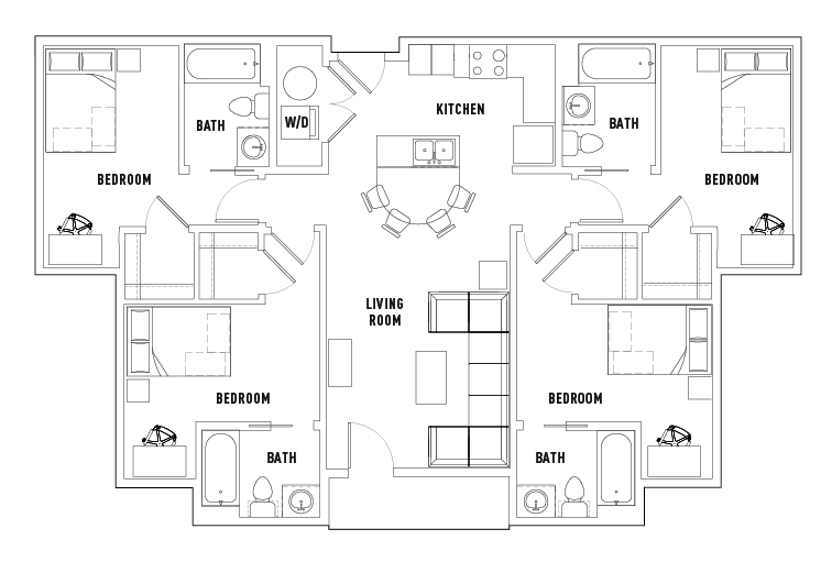 Floor Plans Plaza on University Student Housing Orlando FL – Student Housing Floor Plans