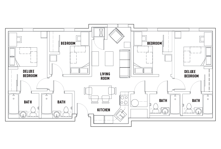 Floor Plans - University Village Temple - Student Housing ...