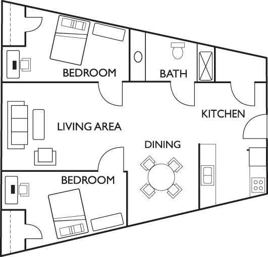 Floor plans the tower at third student housing for 2 bedroom apartments champaign il