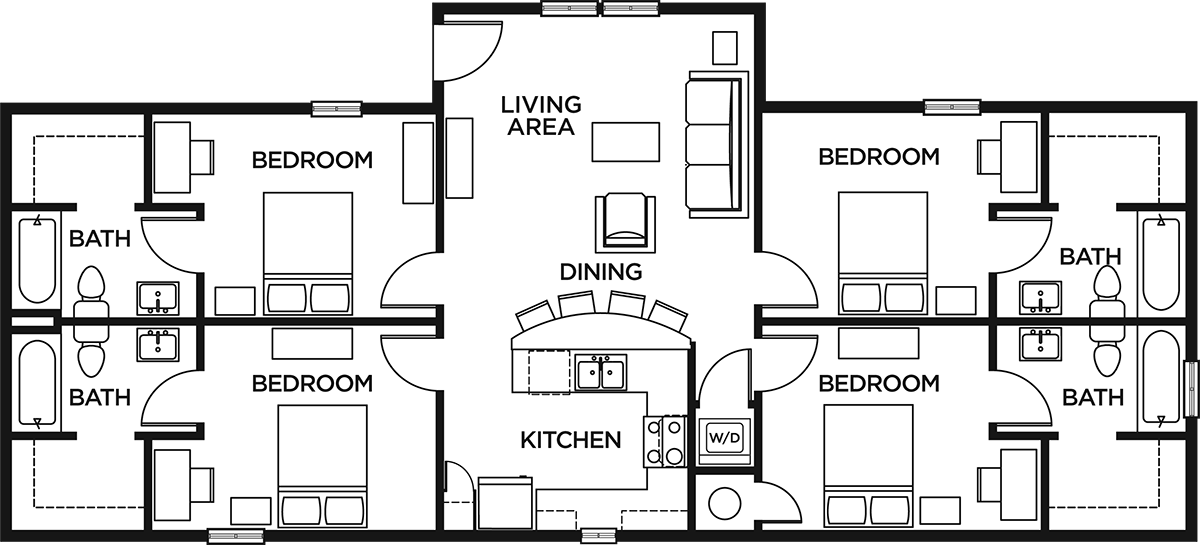 4 bed 4 bath the lodges of east lansing student