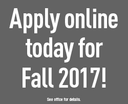 Apply online today for Fall 2017!