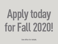 Apply today for Fall 2020!