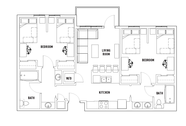 Floor Plans - 2125 Franklin - Student Housing - Eugene, OR