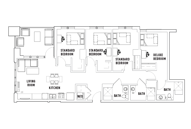 4 Bed - 3 Bath - The 515 - Student Housing - Eugene, OR
