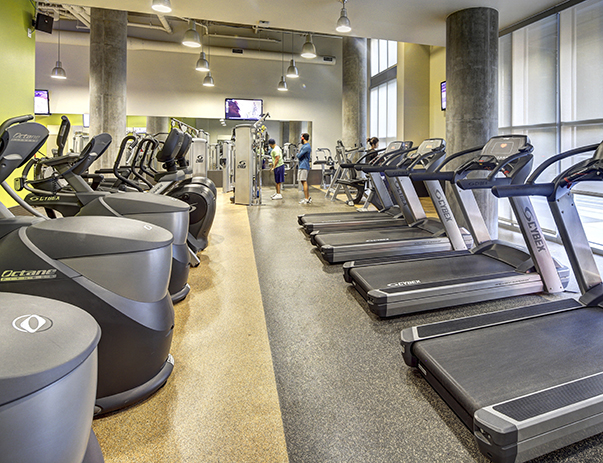 Fitness center at University Pointe at College Station