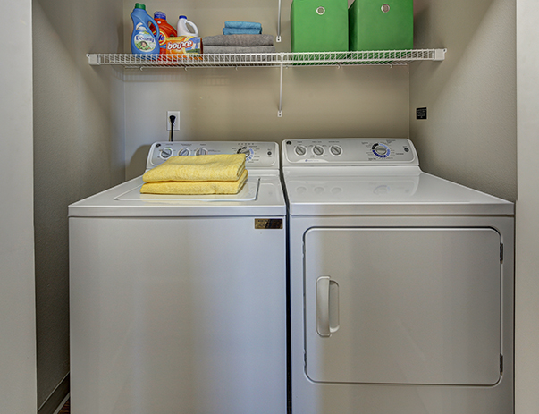 Laundry area of 7th Street Station near Oregon State University in Corvallis, OR 97333