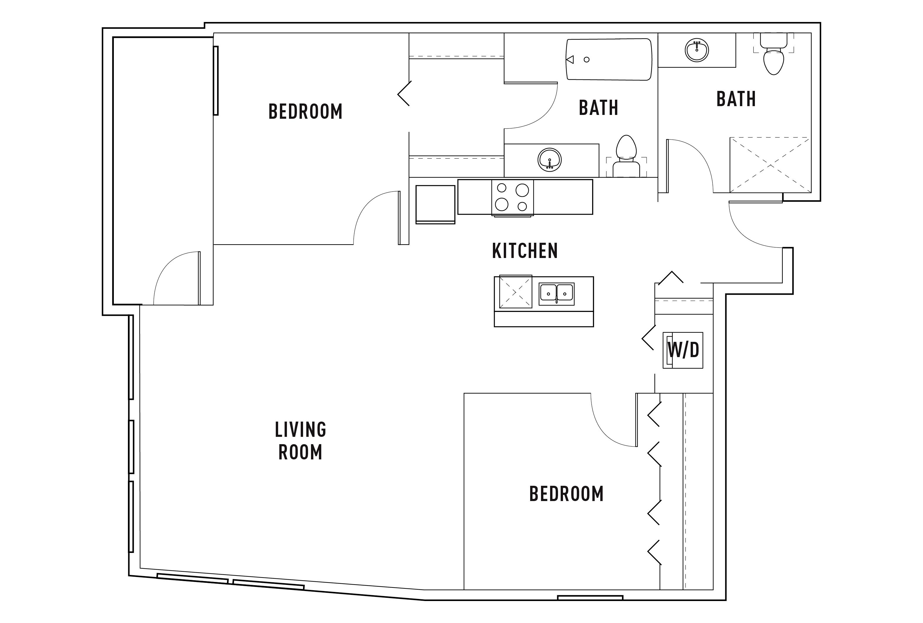 2 Bed   2 Bath A Deluxe Bedroom