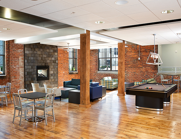 Recreation room of 1200 West Marshall in Richmond, VA near VCU