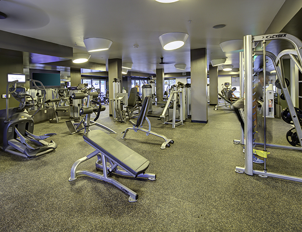 State-of-the-art fitness center at U Club on 28th