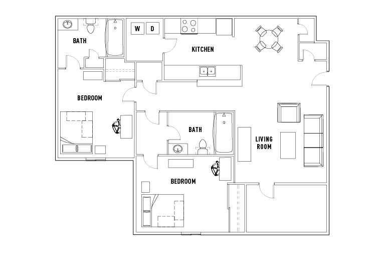 Summit 2 Bed - 2 Bath