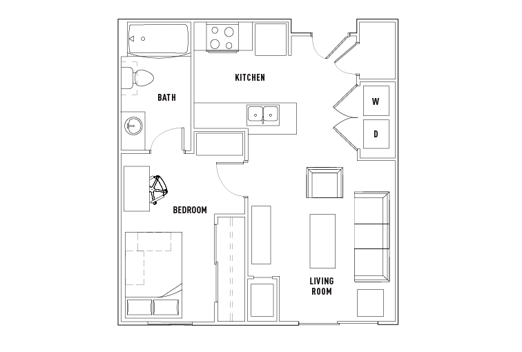 1 Bed - 1 Bath Private