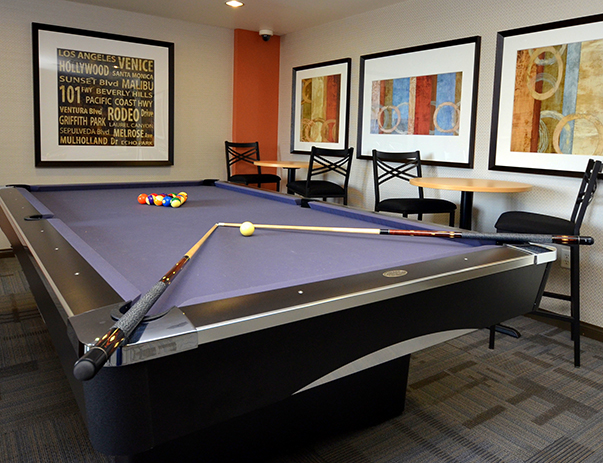 Game room at West 27th Place