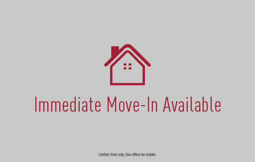 Immediate Move-In Available