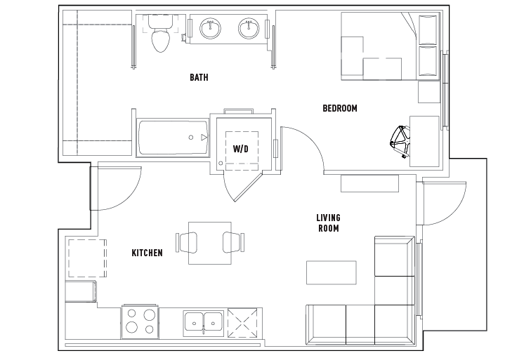 1 bed 1 bath a currie hall student housing los for Floor plans los angeles