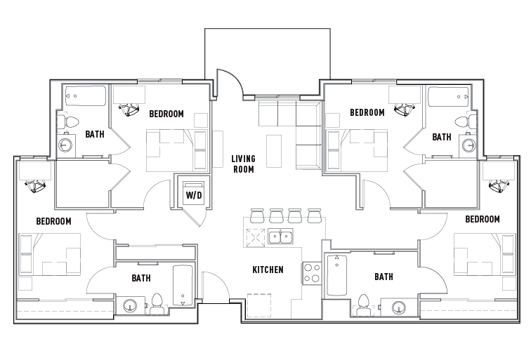 Floor Plans Currie Hall Student Housing Los Angeles CA – Student Housing Floor Plans