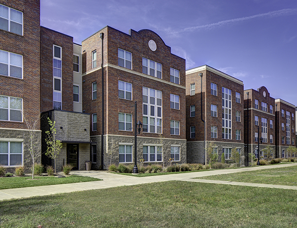 Exterior view of University Pointe near the University of Louisville