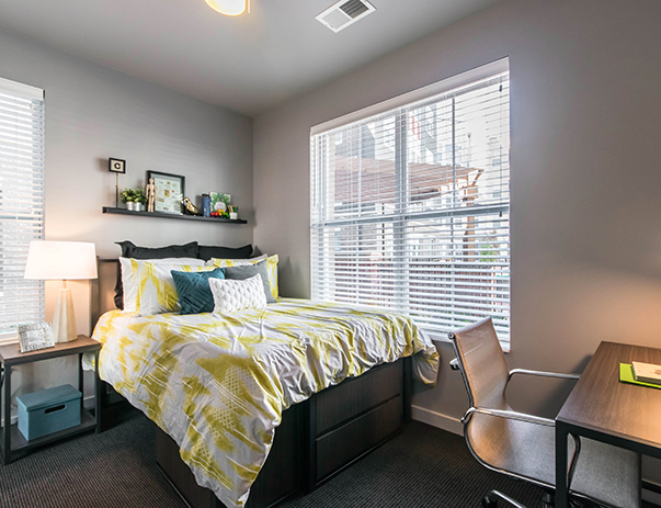 Spacious bedroom at University Pointe