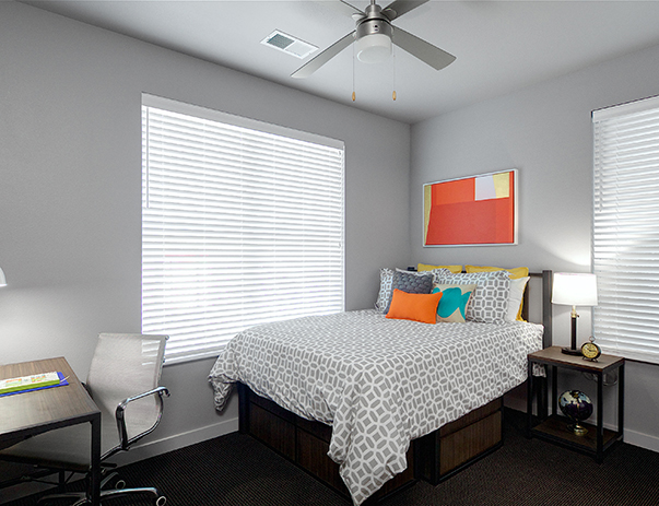Private and spacious bedroom at University Pointe