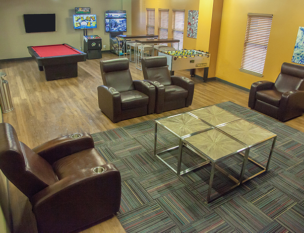 Game room at University Village