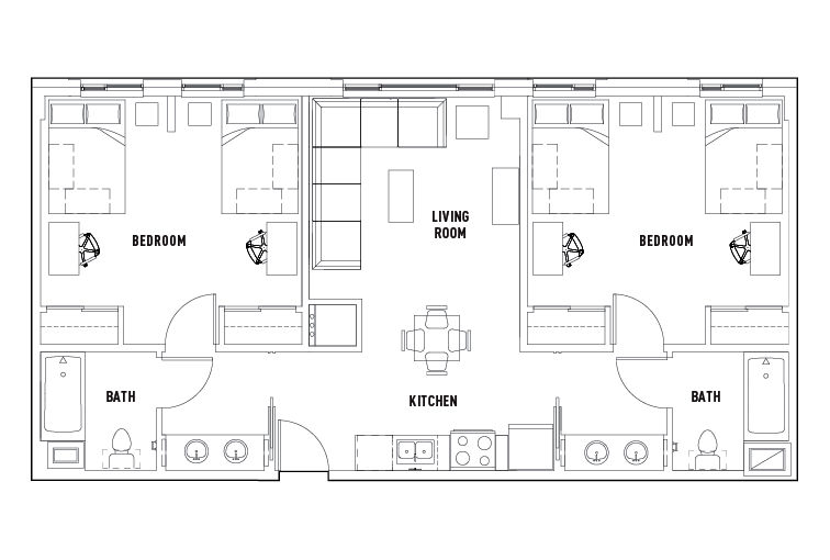 Fresh 2 Bed 2 Bath d Bedroom For Your House - Latest 2 Bedroom 2 Bath Floor Plans For Your Plan