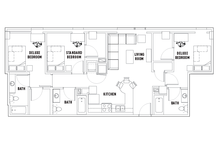 3 bed 3 bath apartment standard w balcony wait list - 3 bedroom apartments state college pa ...
