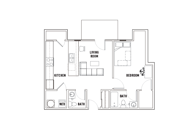 1 Bed - 1.5 Bath A - Phase 1
