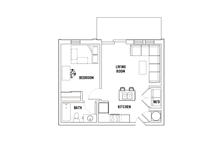 1 Bed - 1 Bath A - Phase 2