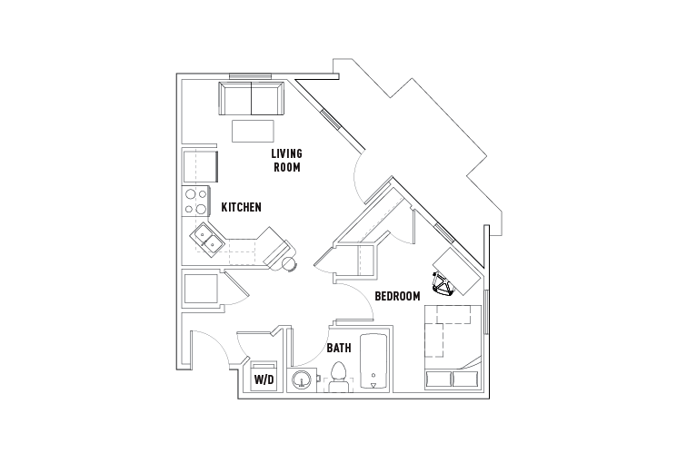 1 Bed - 1 Bath D - Phase 1