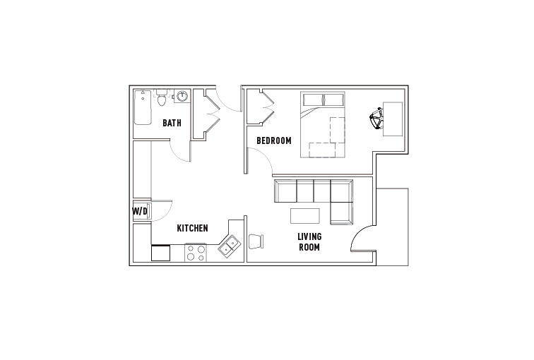 1 Bed - 1 Bath E - Phase 1
