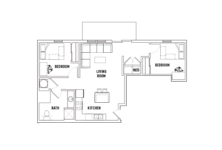 2 Bed - 1 Bath - Phase 2