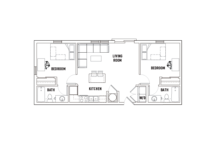 2 Bed - 2 Bath A - Phase 2