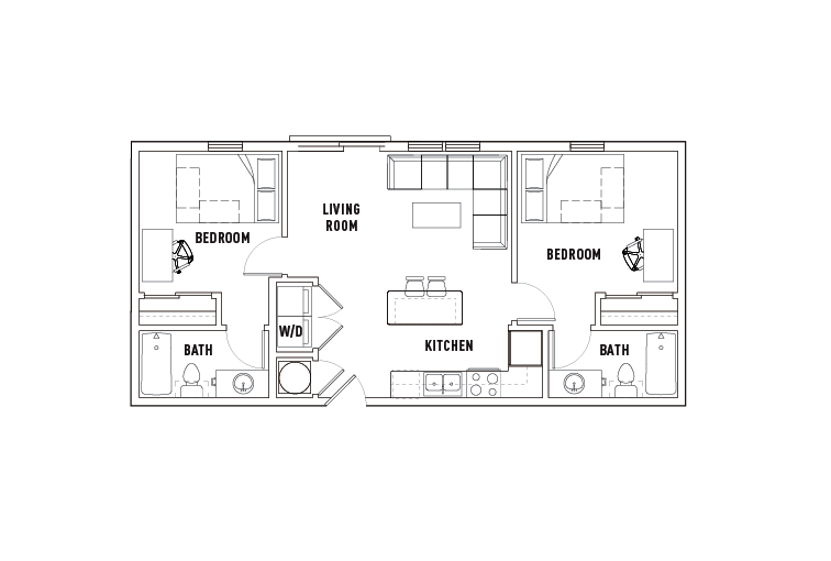 2 Bed - 2 Bath C - Phase 2