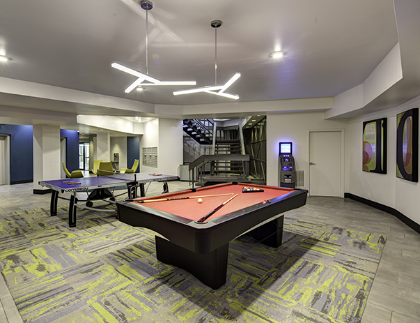Game room at Tower at Third