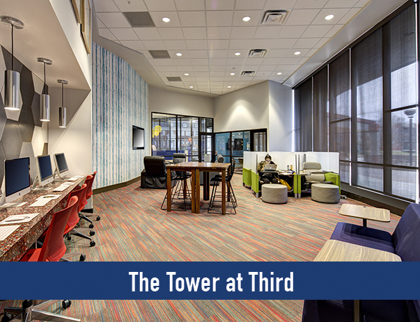 Access to The Tower at Third's newly upgraded Academic Success Center