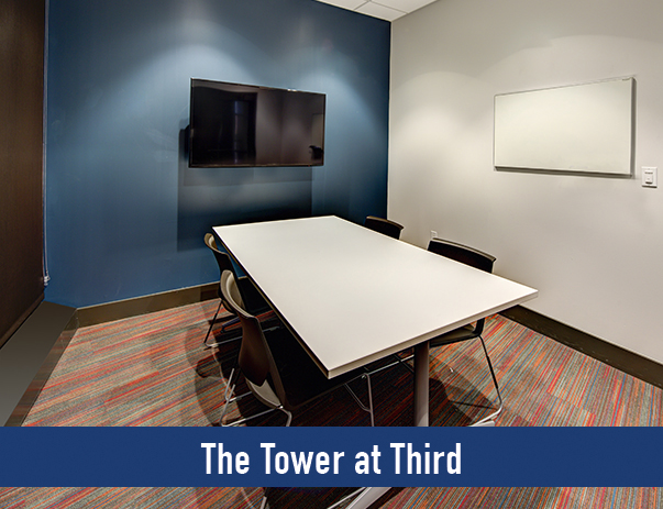 Private study room at The Suites at Third