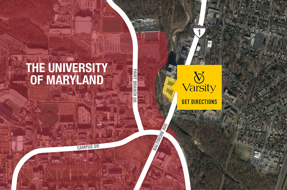 Udm Campus Map.The Varsity Apts Near Univ Of Maryland 1 2 3 4 Brs