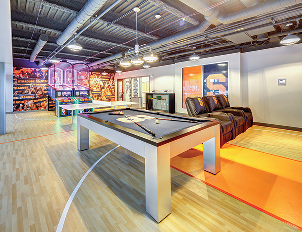 Game room at U Point near Syracuse University
