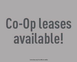 Co-Op leases available!