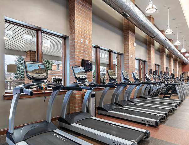 Fitness center at Villas at Chestnut Ridge