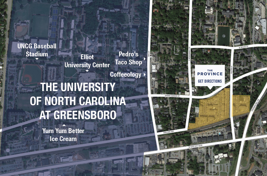 Unc Greensboro Campus Map.The Province 1 2 3 4 Bedroom Apartments Near Uncg