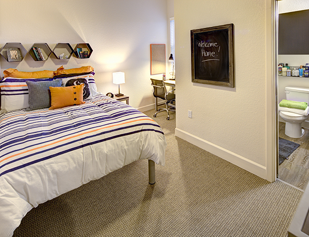 Fully furnished, private bedroom at Plaza on University