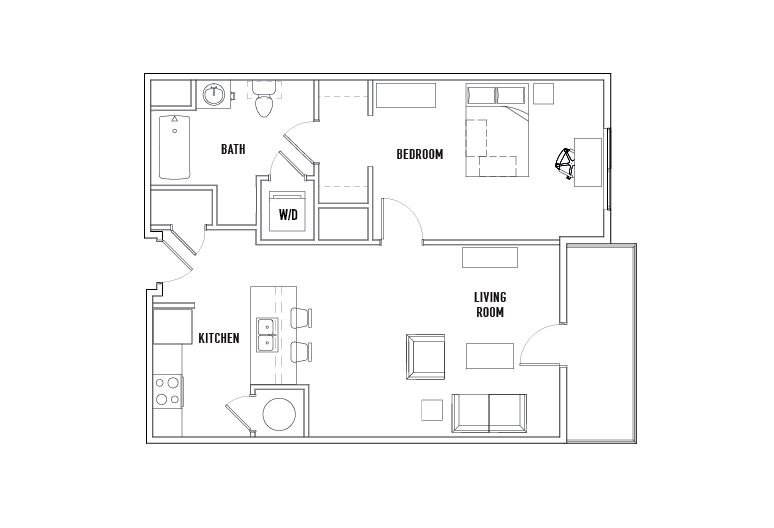 Block 1 Bed - 1 Bath