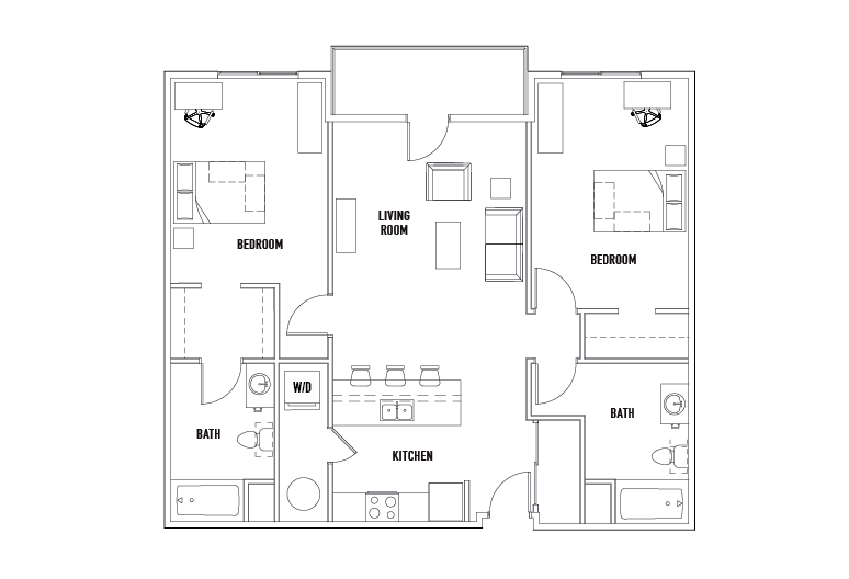 Block 2 Bed - 2 Bath