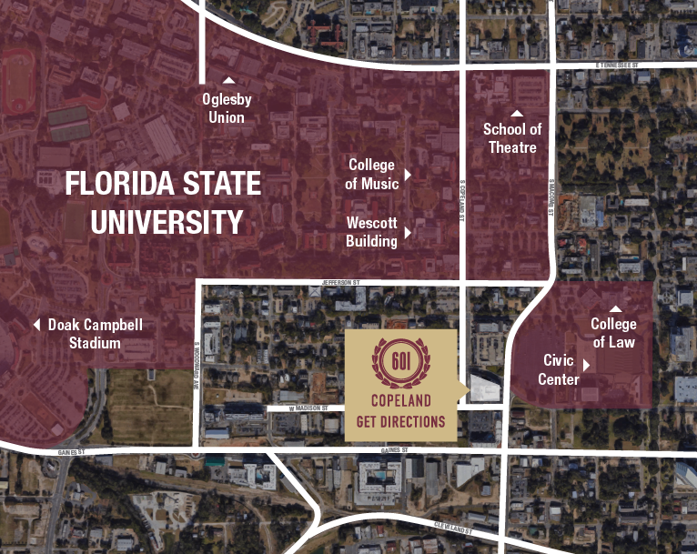 Florida State University Map.Copeland 1 2 4 Br Apartments Near Florida State Fsu