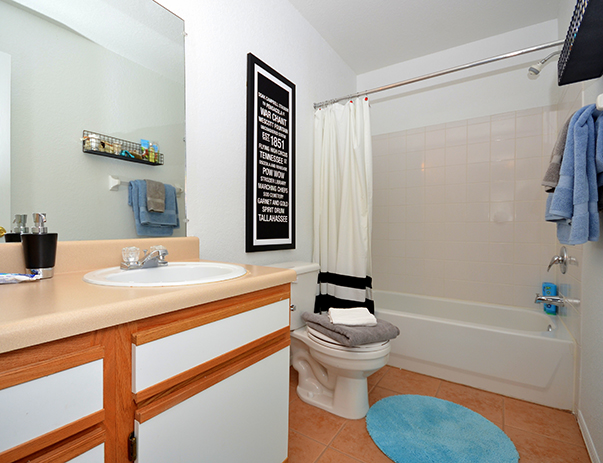 Private and spacious bathroom College Club Townhomes