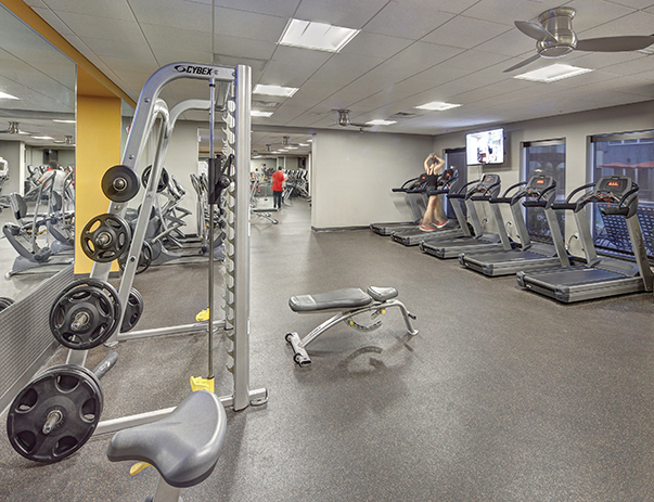 Fitness center at Avalon Heights