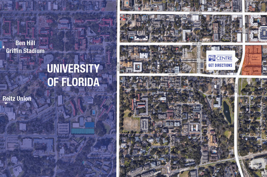 Map Of University Of Florida.2nd Avenue Centre 1 2 4 Br Apartments By Univ Of Florida